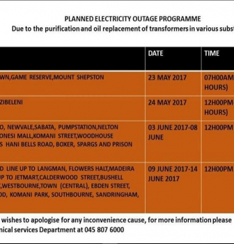 Planned Electricity Outage Programme